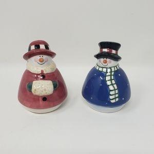 Jolly Follies Snowmen Salt & Pepper Shakers